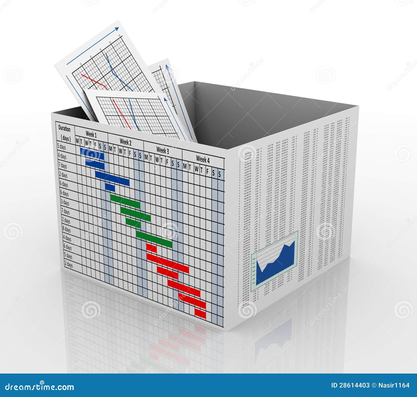 3d在配件箱的企业图表