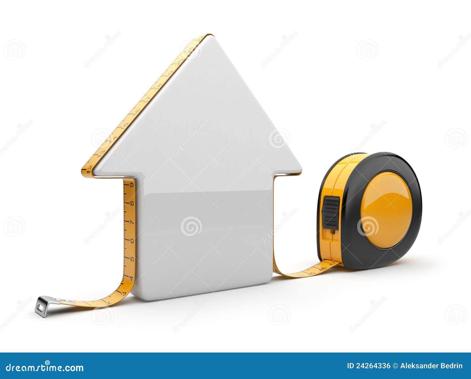 3d房子评定的磁带