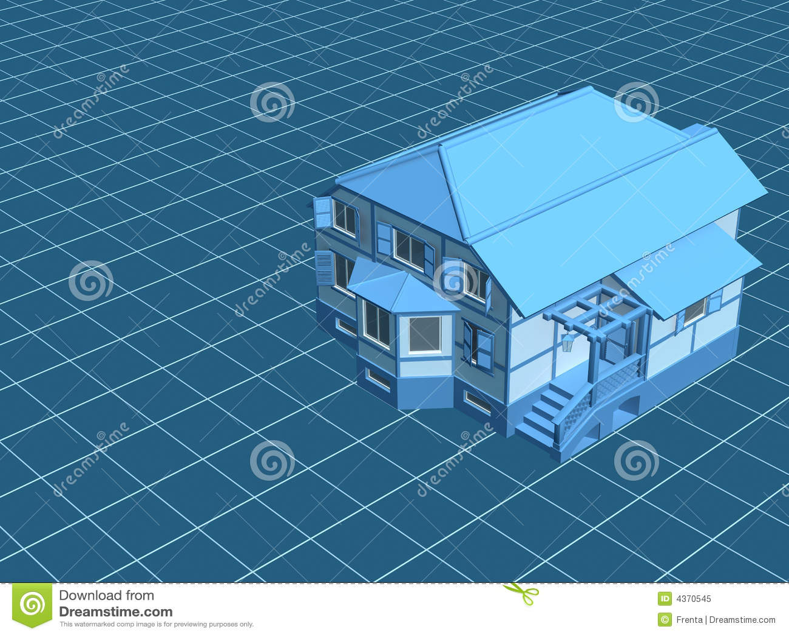 3d数字式房子设计表面财产