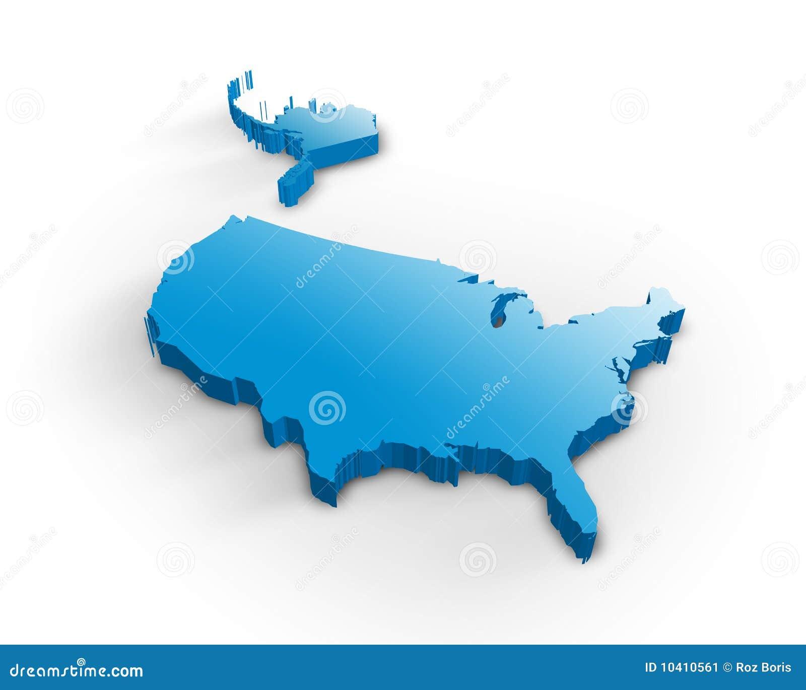 3d映射美国