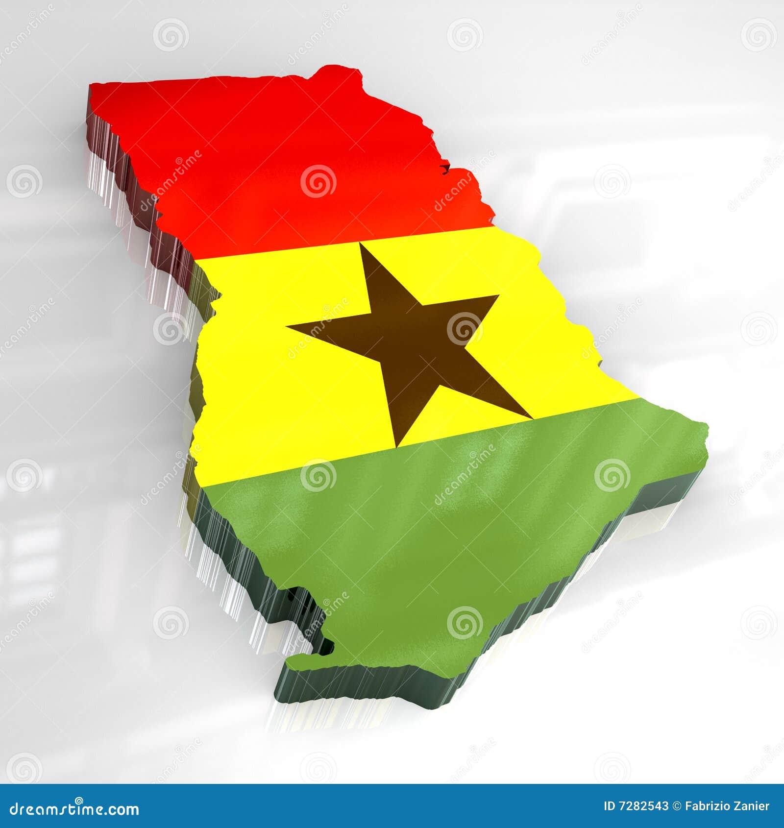 3d标志加纳映射