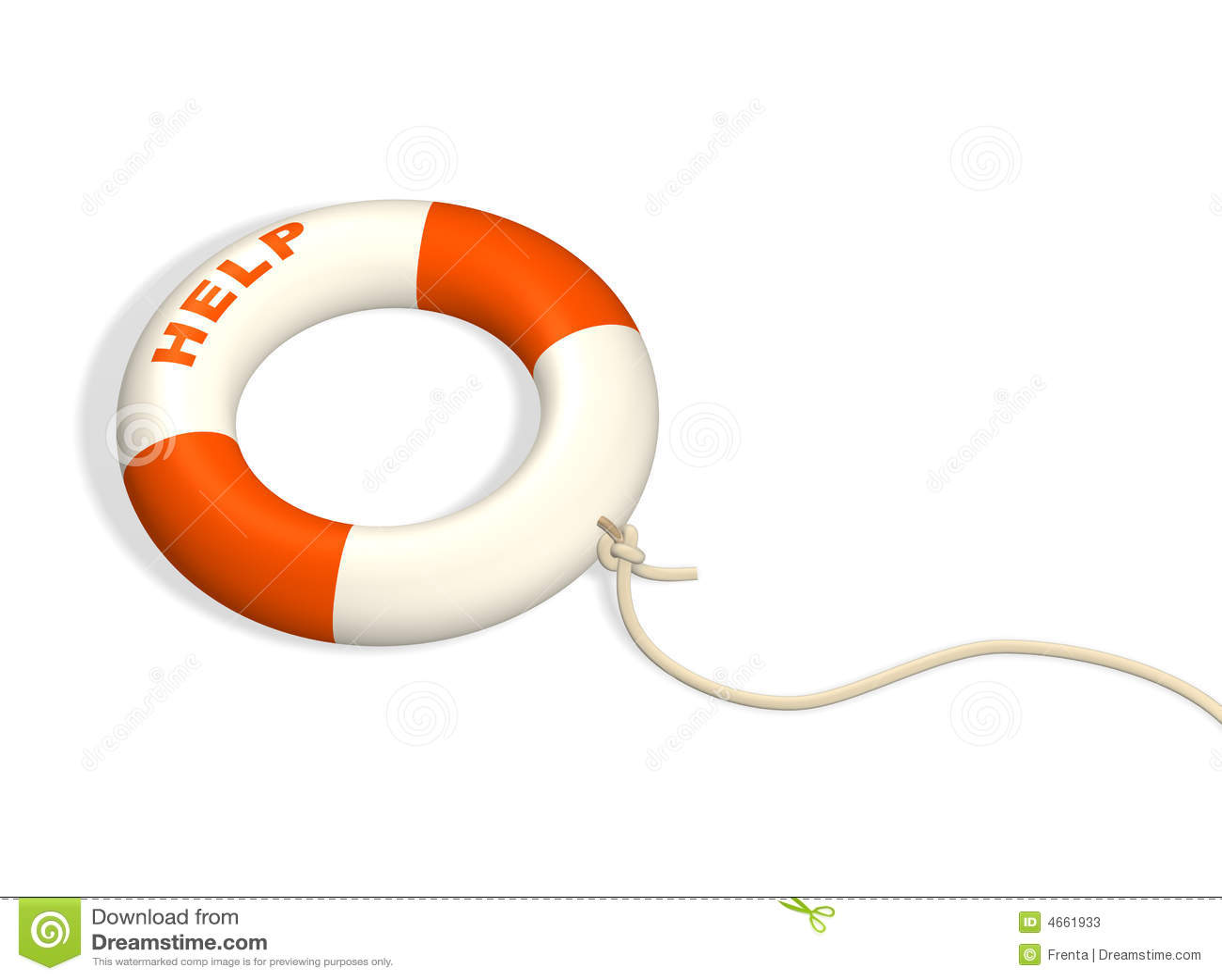 3d遵守了绳子lifebuoy环形