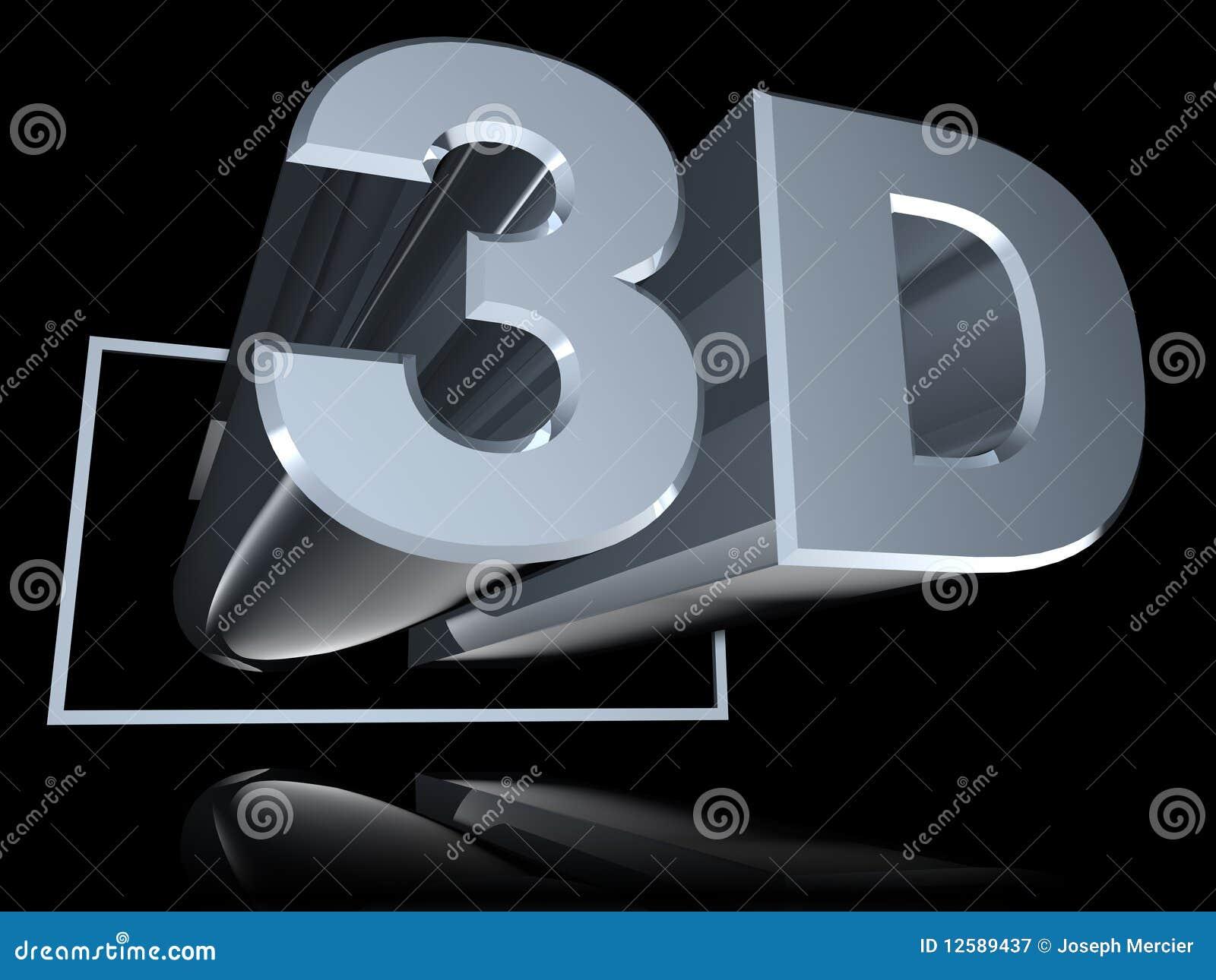 3D à angles réfléchi sur le noir