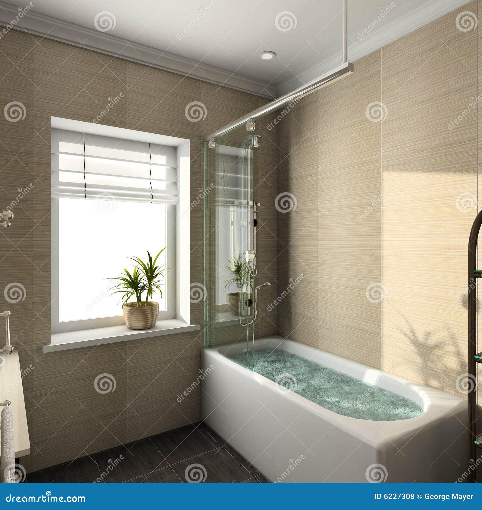 3D übertragen modernen Innenraum des Badezimmers