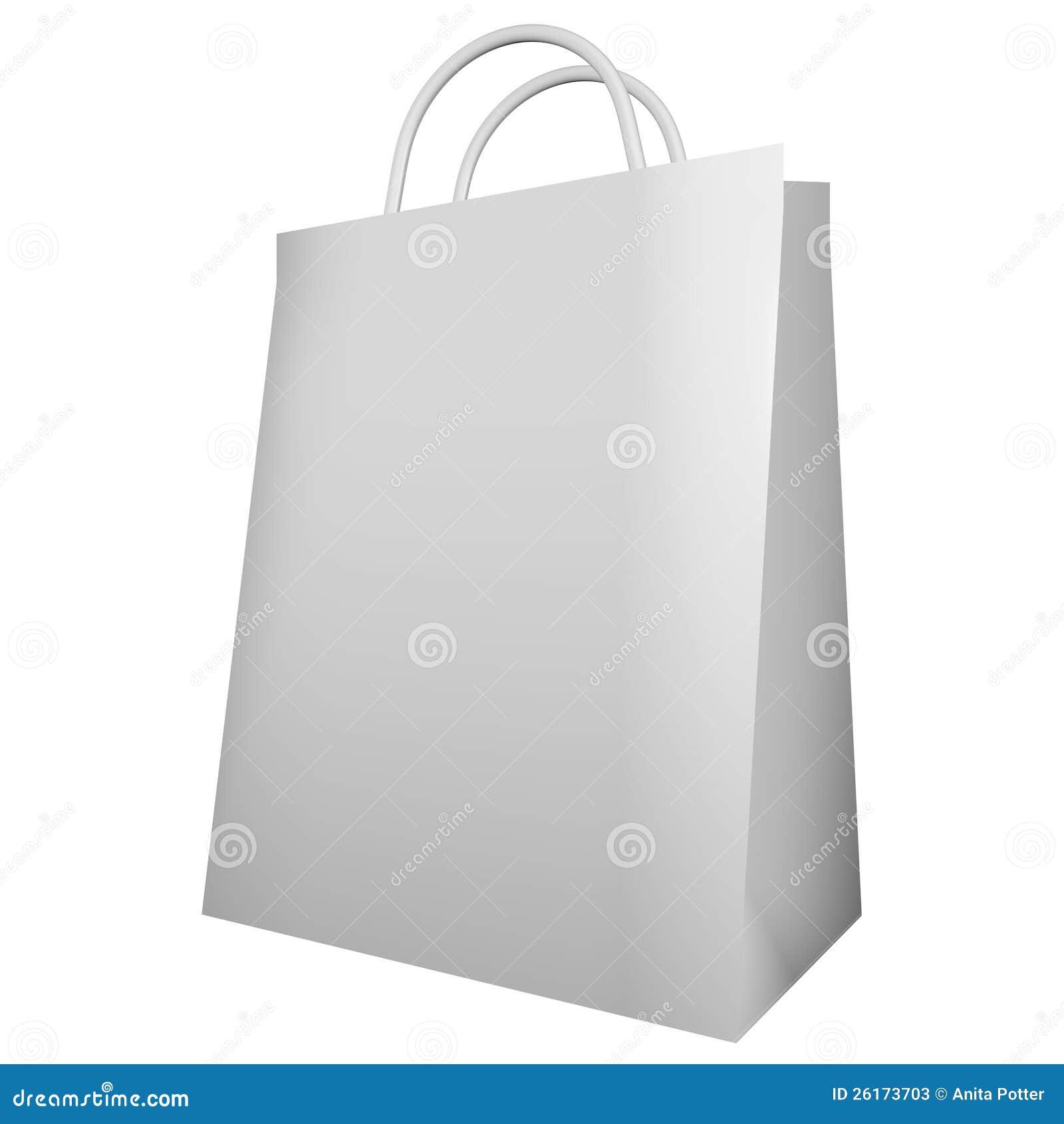 3d übertragen von einer weißen Einkaufstasche
