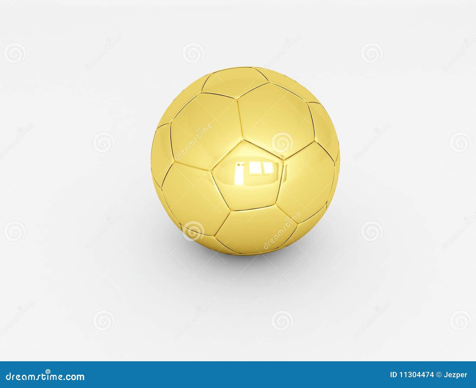 3d übertrug goldene Fußballkugel