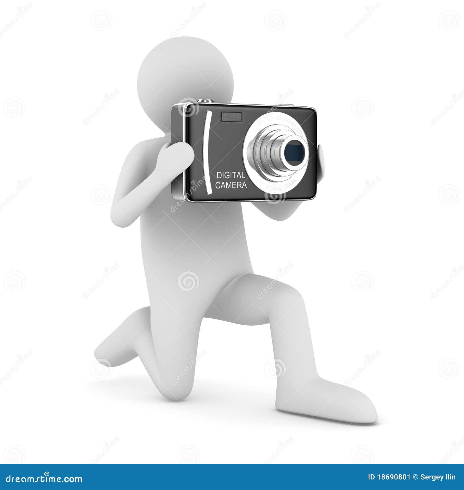 3d照相机协定数字图象查出的人.