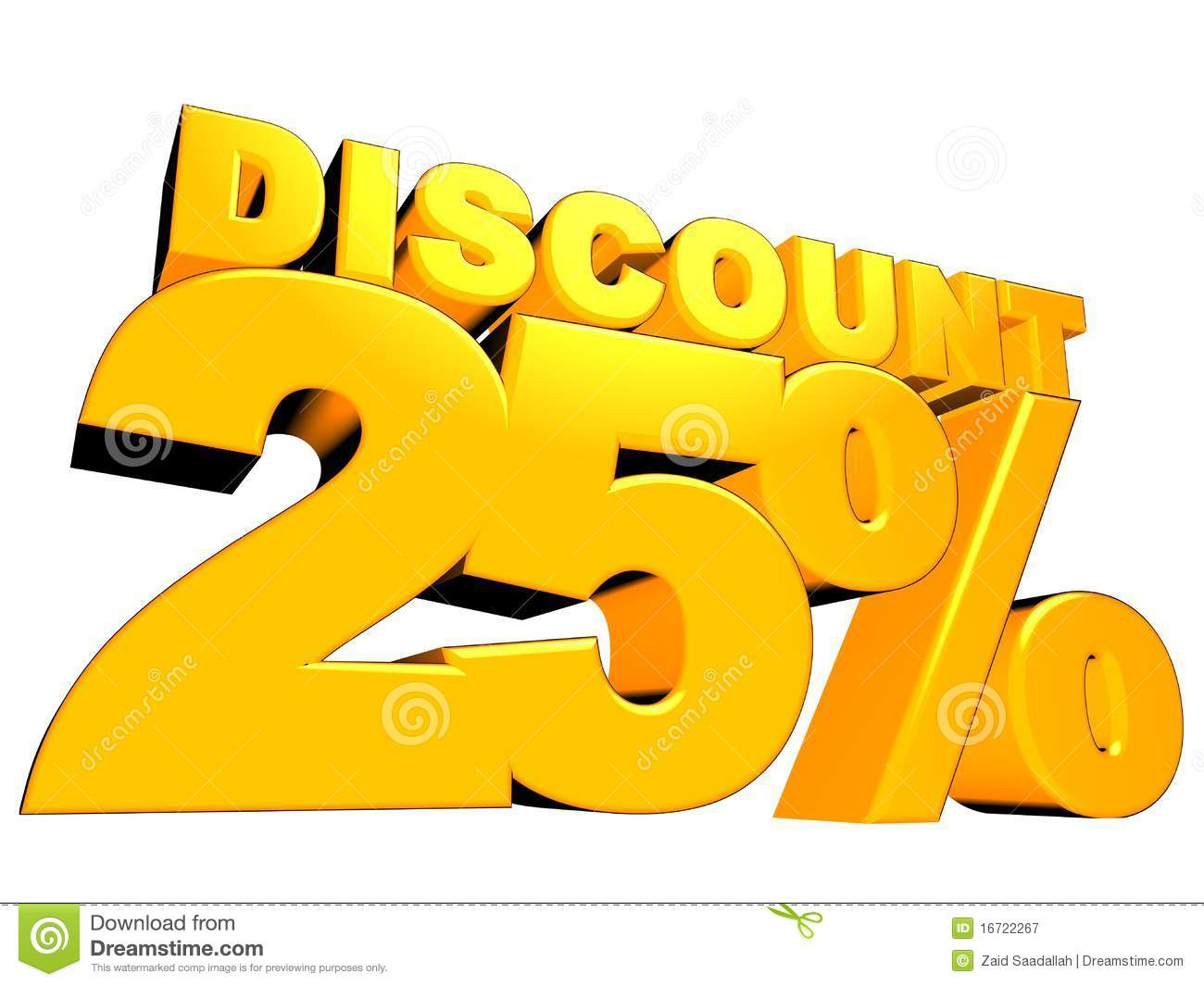 3d 25 discount sign royalty free stock photography image 16722267