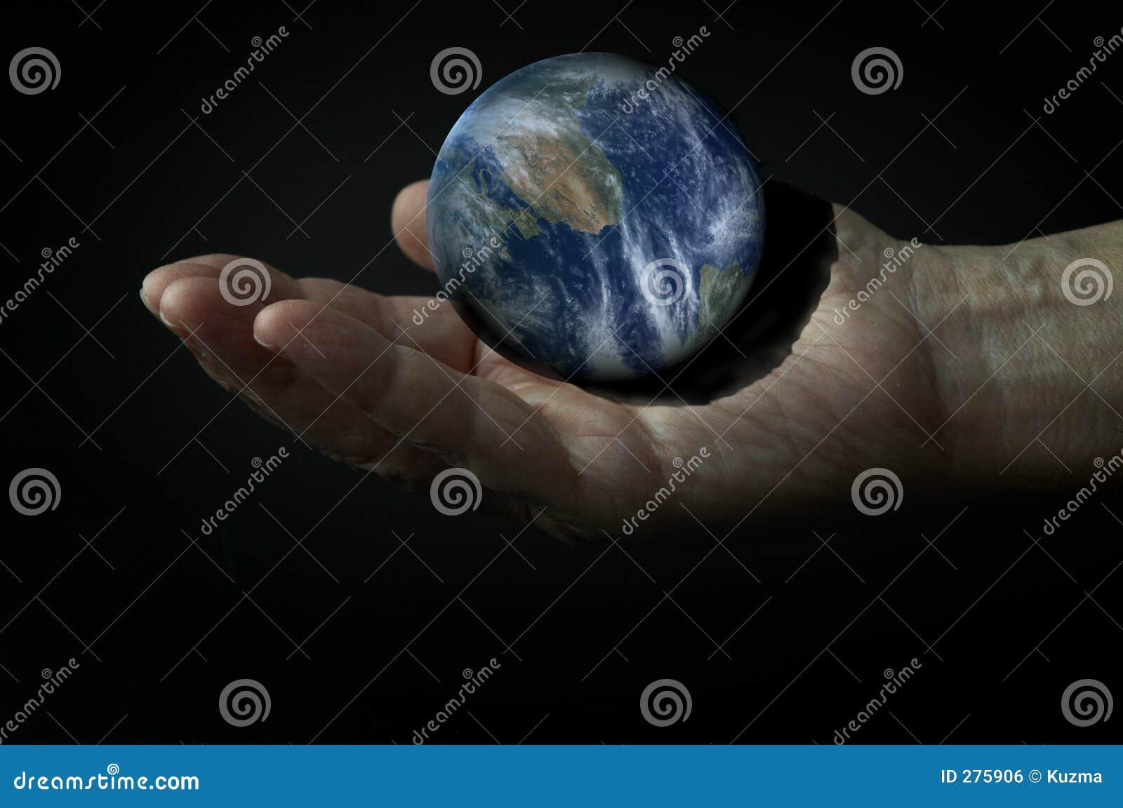 3d Aarde op dient dark in