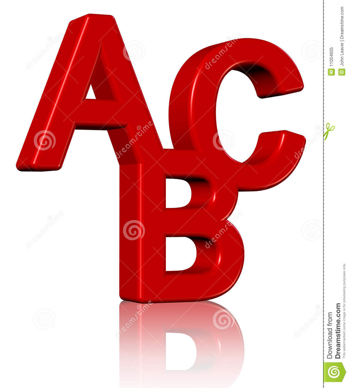 3d Abc Royalty Free Stock Photo