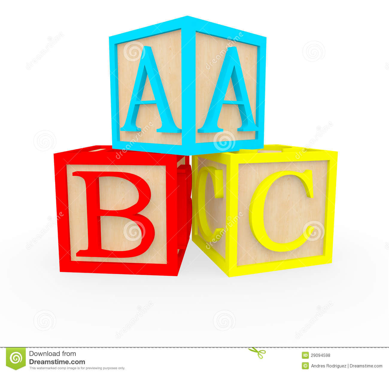 3d abc cubes stock illustration image of childhood word