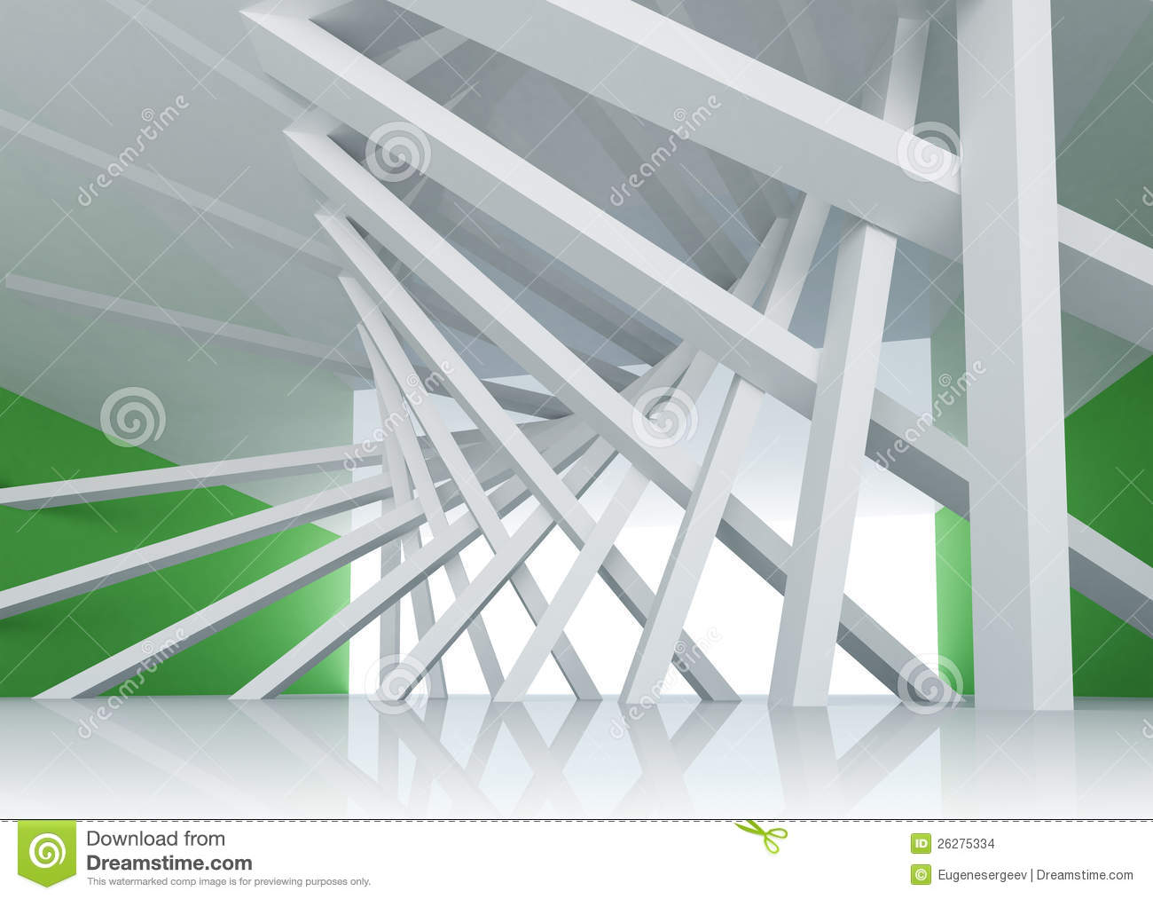 3d abstract architecture background room interior stock