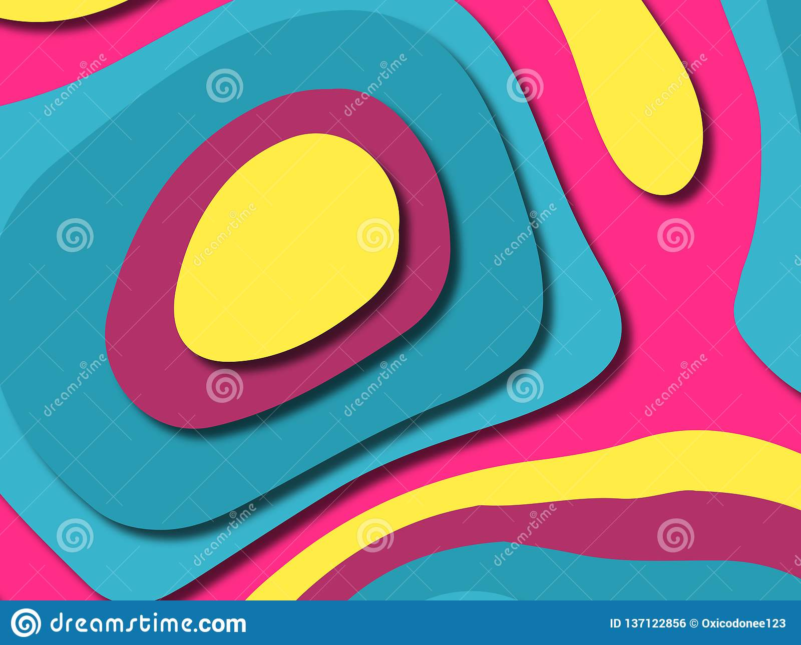 3D abstract background with paper cut shapes.Abstract paper carve template background,for book cover.Paper cut background. royalty free stock image