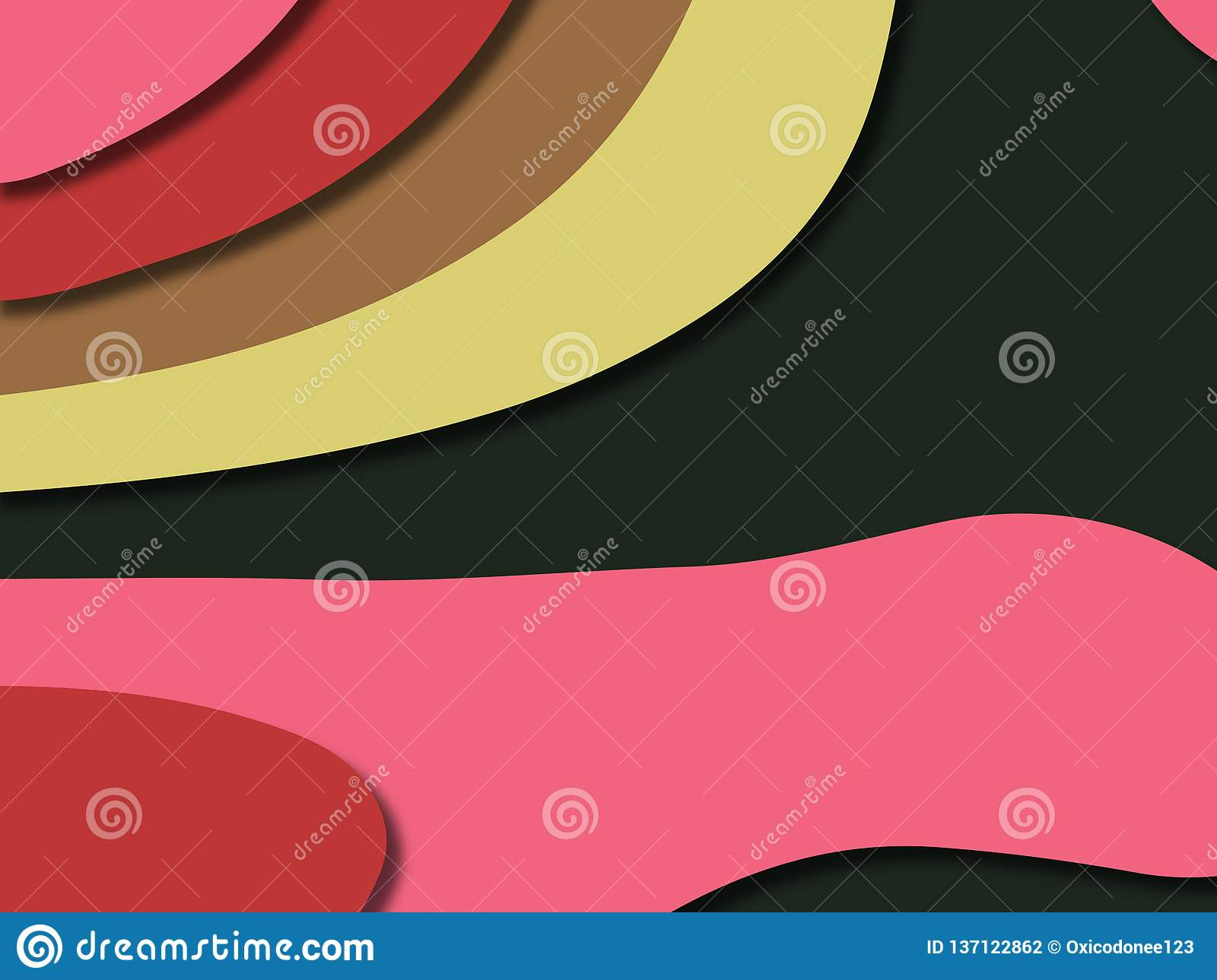 3D abstract background with paper cut shapes.Abstract paper carve template background,for book cover.Paper cut background. stock photography