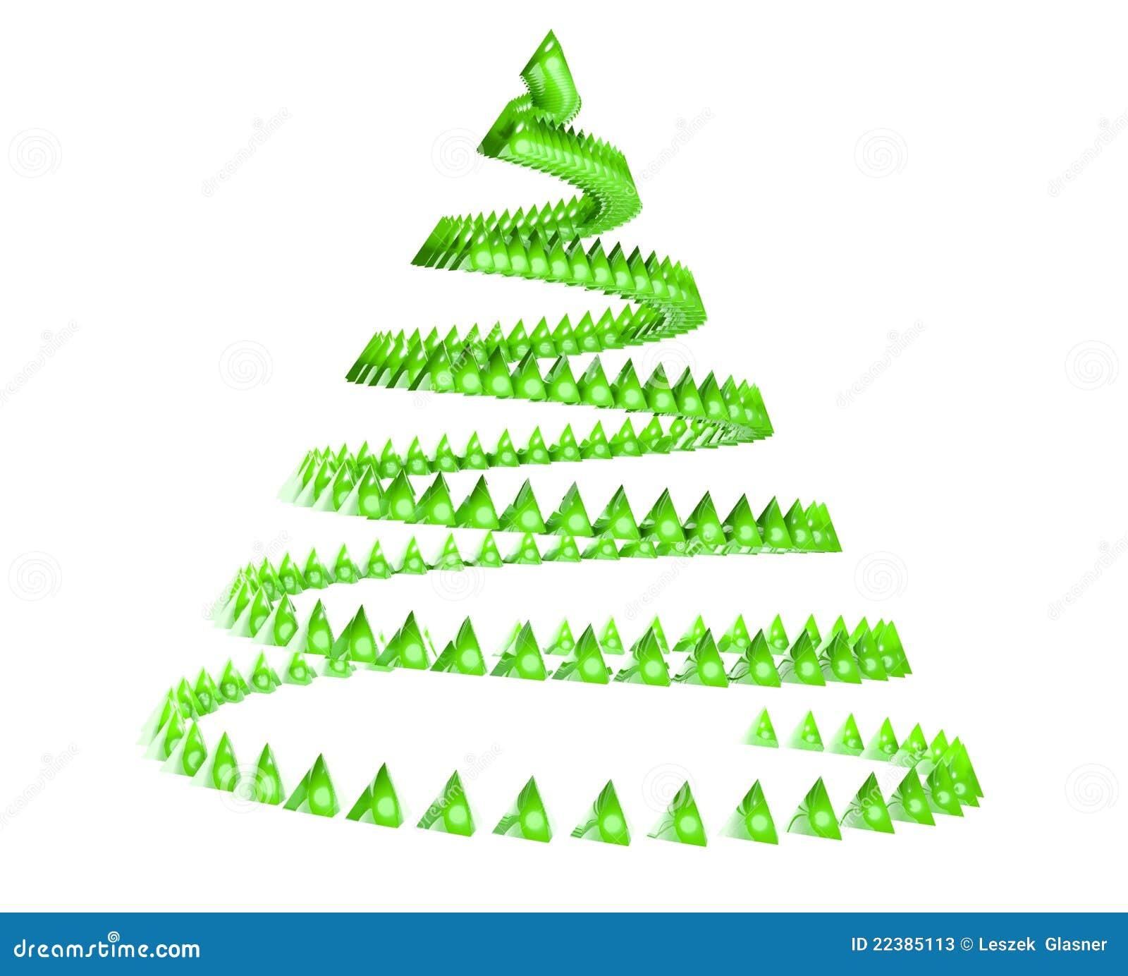 3d abstract christmas tree stock illustration illustration of