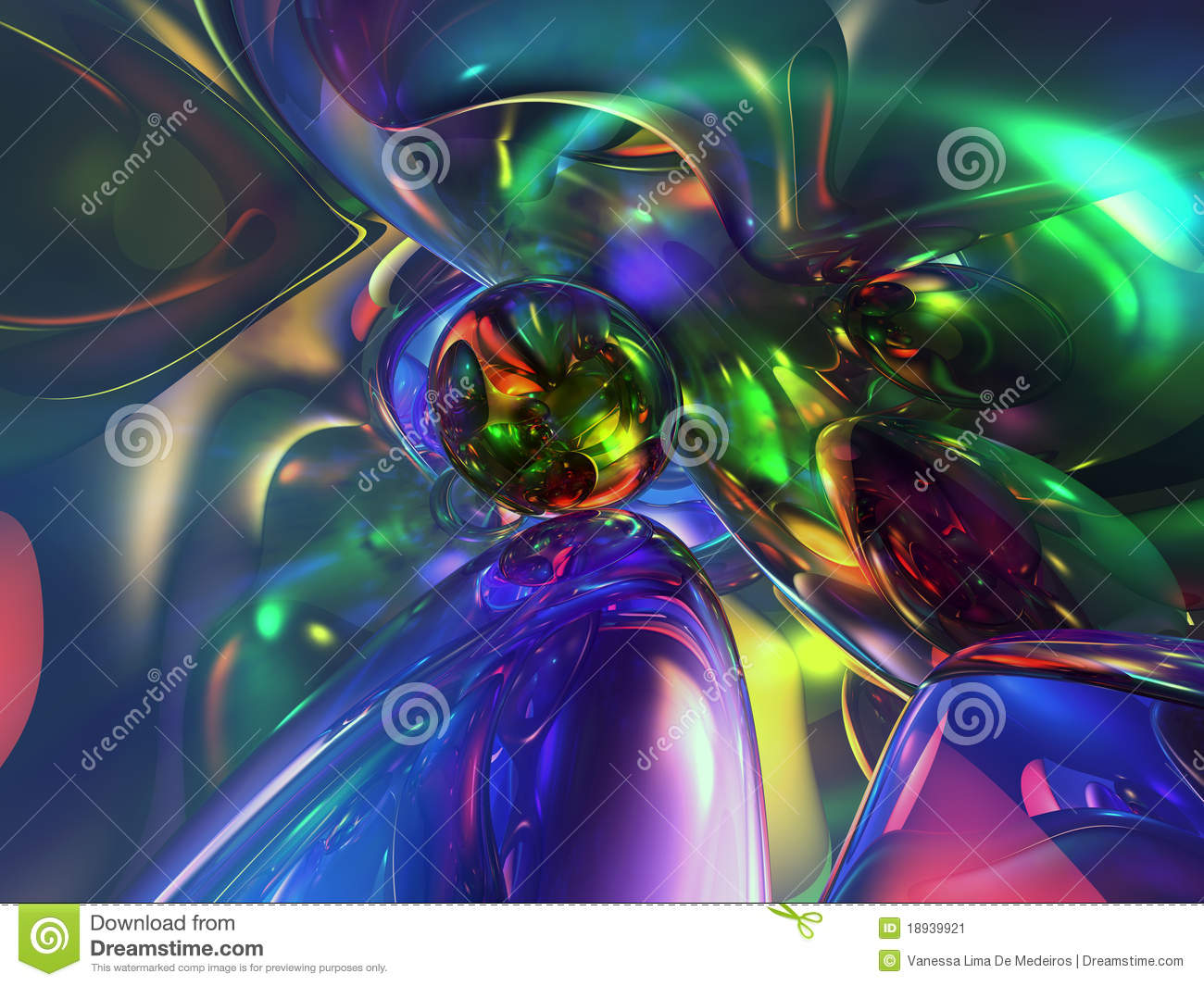 3D Abstract Colorful Glassy Wallpaper Background Stock ...