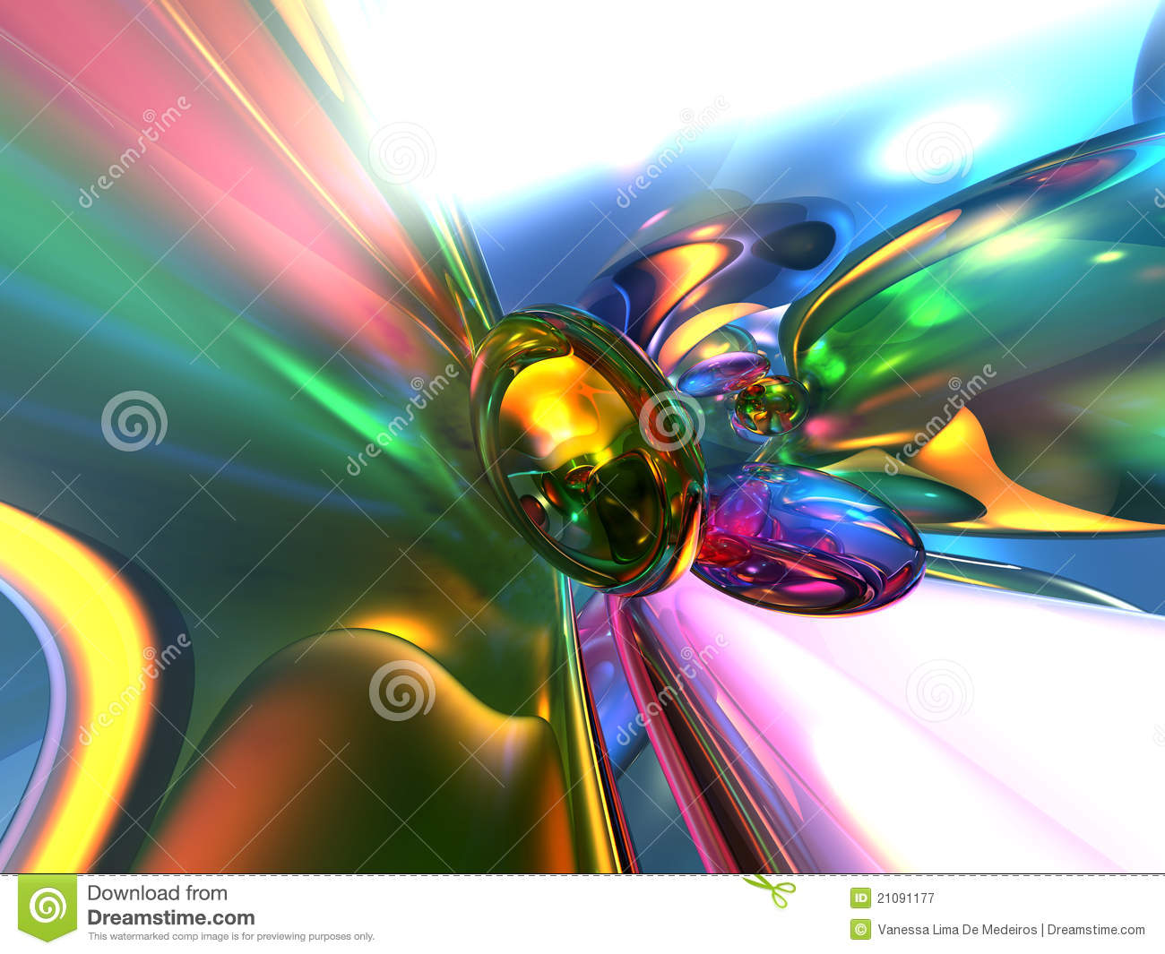 3D Abstract Colorful Glassy Wallpaper Background
