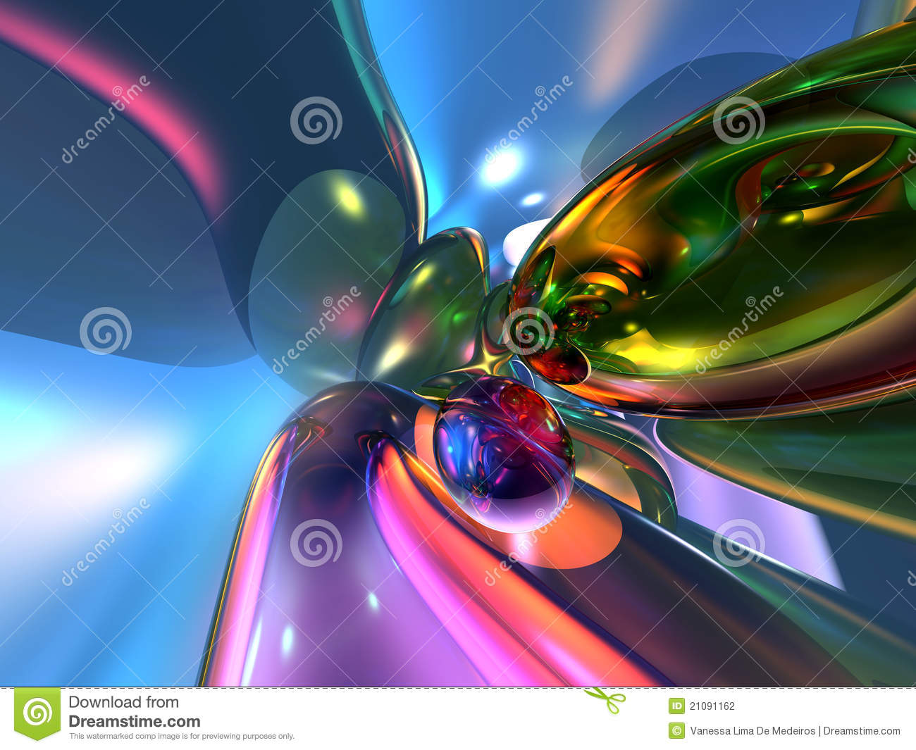 3d Abstract Colorful Pink Wallpaper Background Stock Illustration