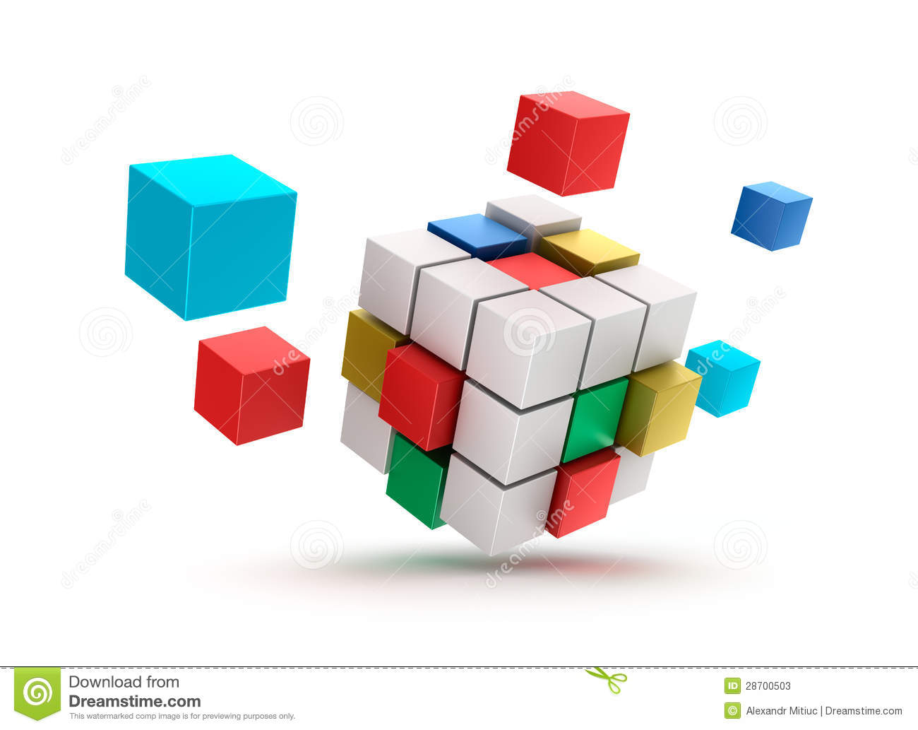 3d abstract cubes background - photo #10