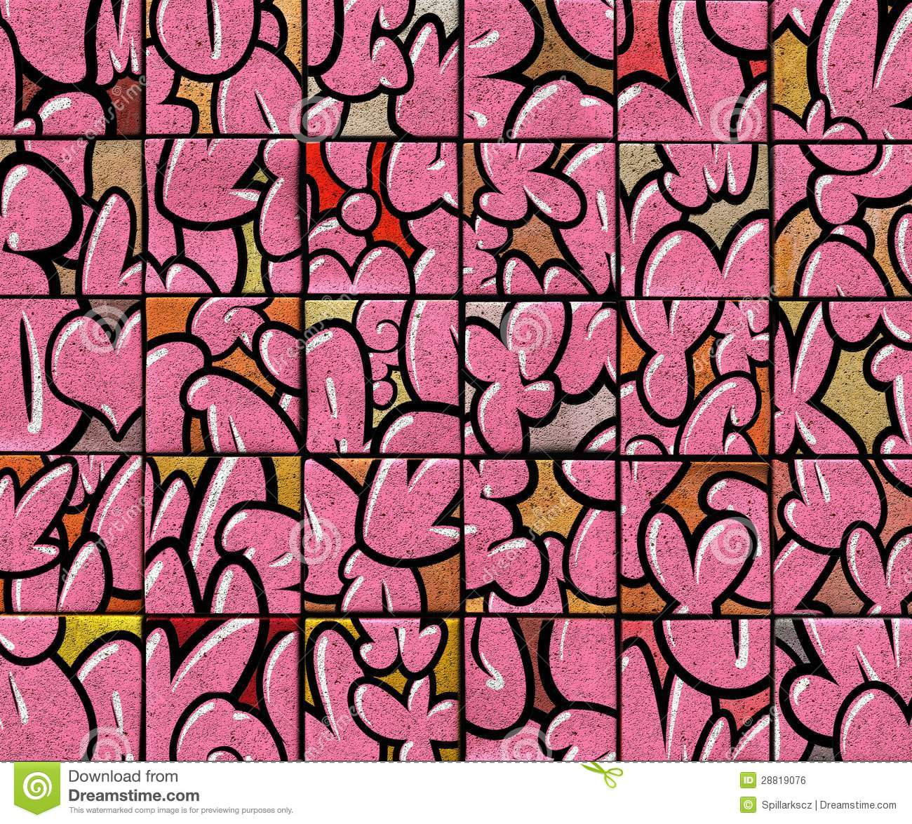 Painter And Decorator Prices >> 3d Abstract Graffiti Bubble Font Backdrop In Pink Royalty ...