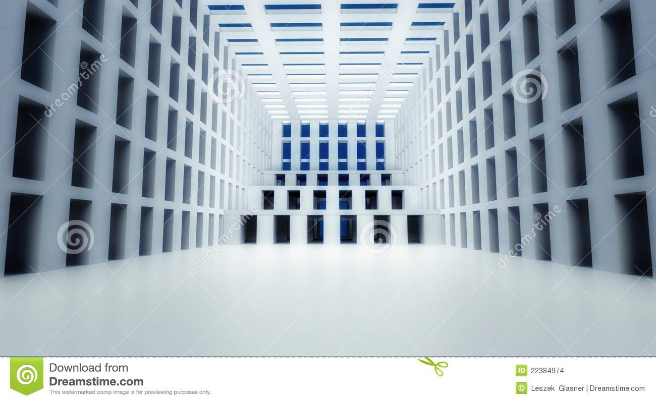 Modern Architecture Interior 3d abstract modern architecture interior stock photo - image: 22384960