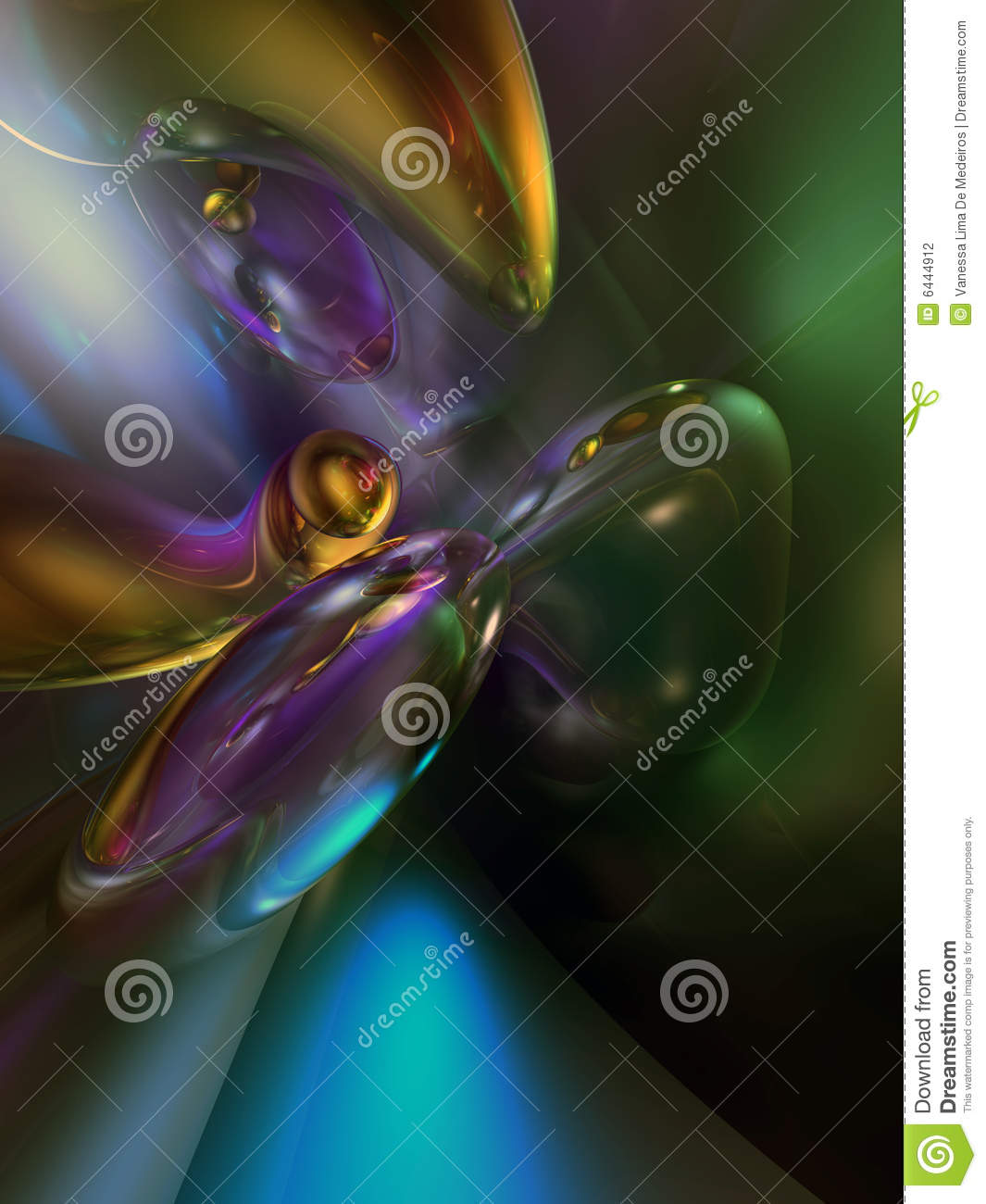 3D Abstract Purple Green Blue Color Background Stock