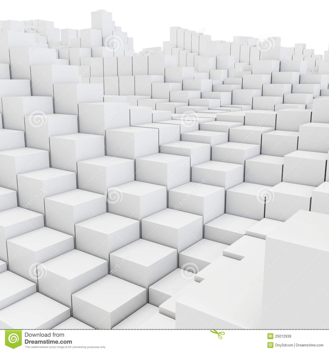 3d abstract smooth white metallic cubes background stock for Wallpaper 3d white
