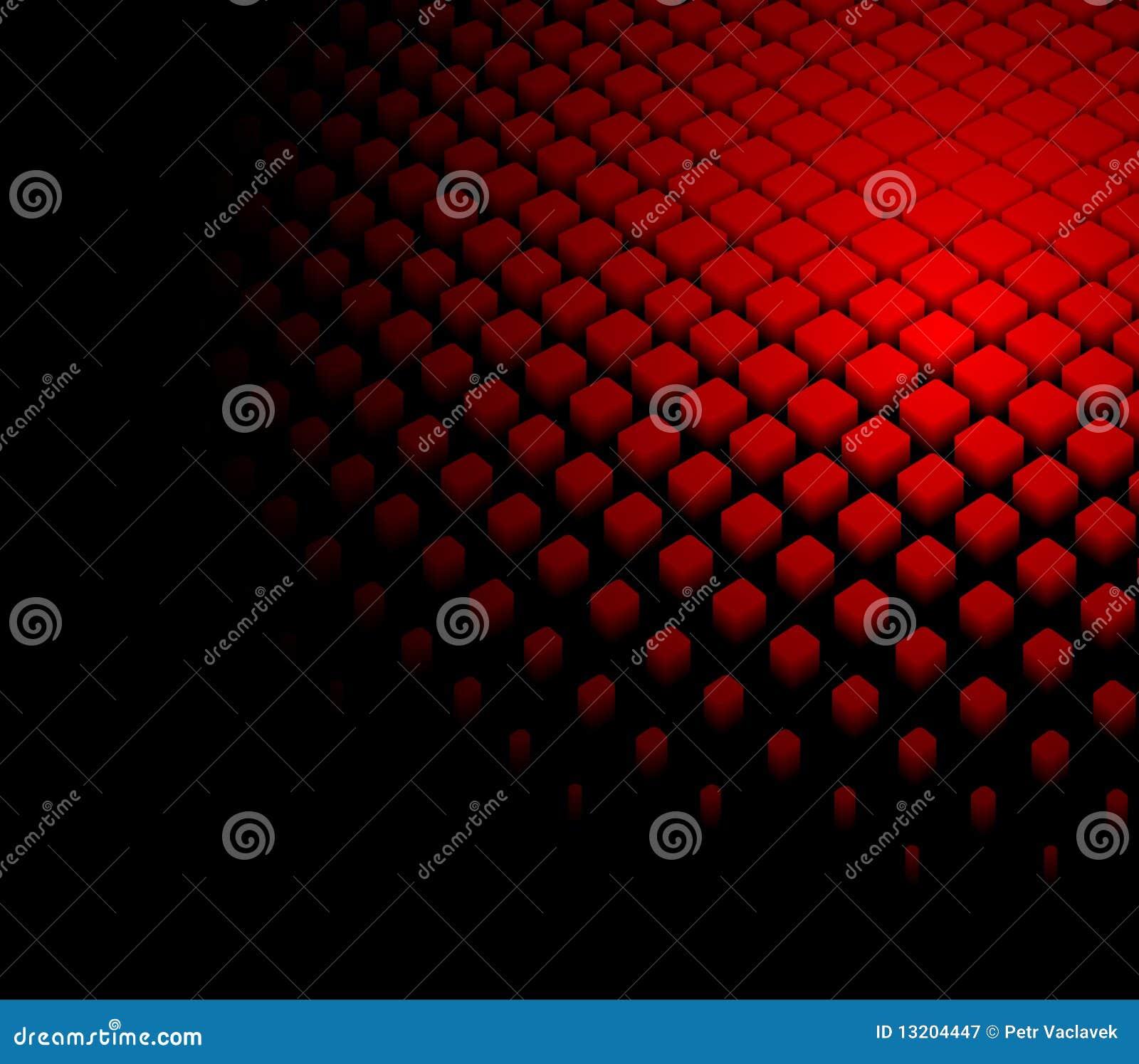 3d abstracte dynamische rode achtergrond
