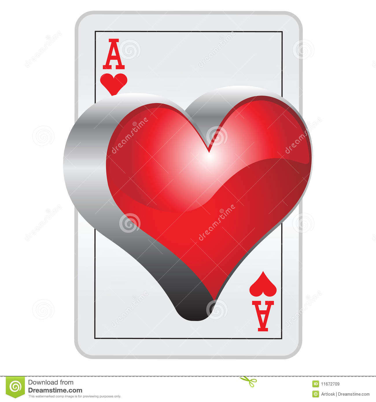 3d ace of hearts royalty free stock images image 11672709 for Asso di cuori tattoo