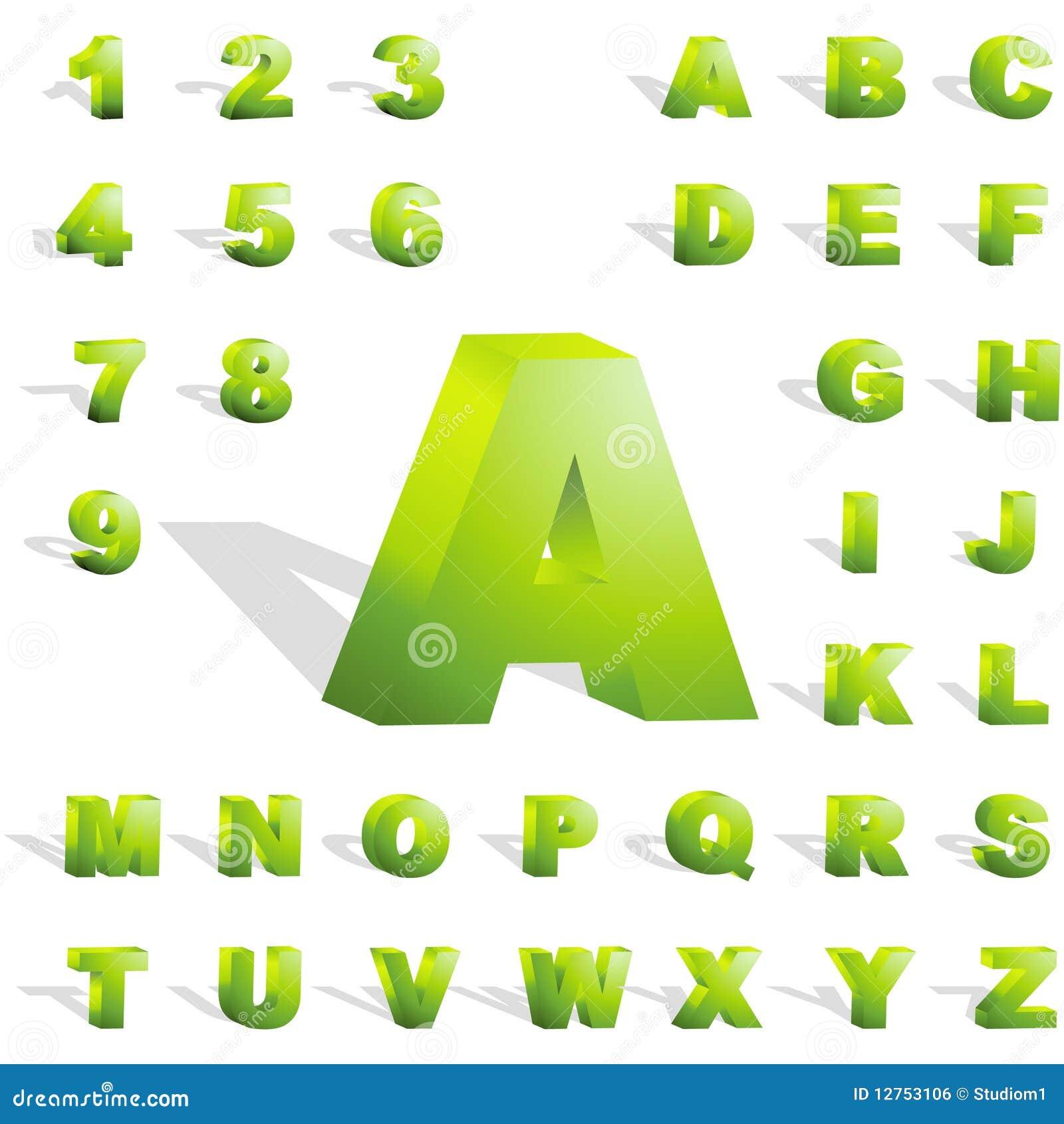 3d alphabet.