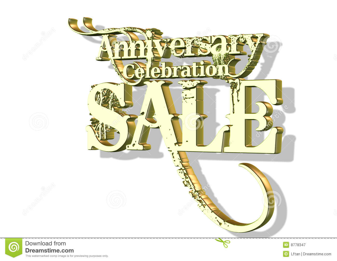 D anniversary celebration sale stock illustration image