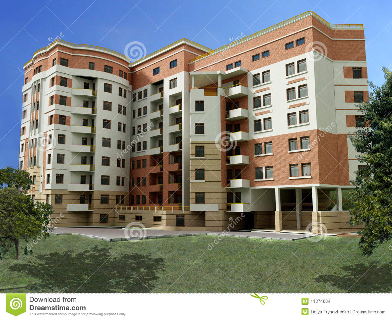 3d apartment building stock images image 11374004 for Apartment 3d