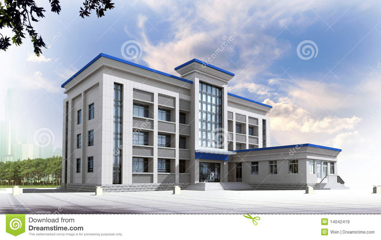 3d architectural royalty free stock images - image: 14042419