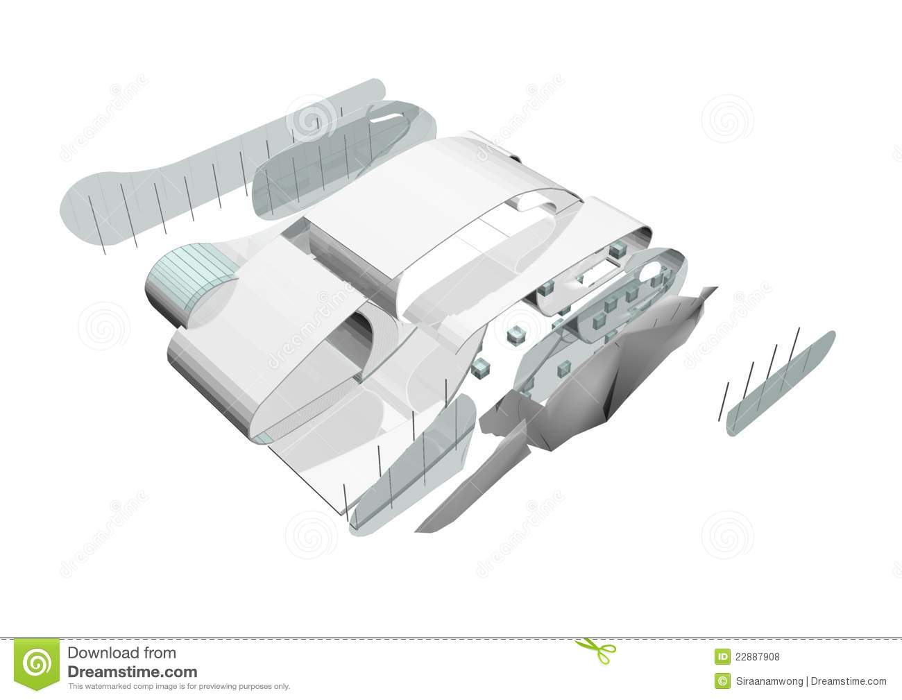 3d architecture exploded stock illustration image of for Architecte jardin 3d gratuit