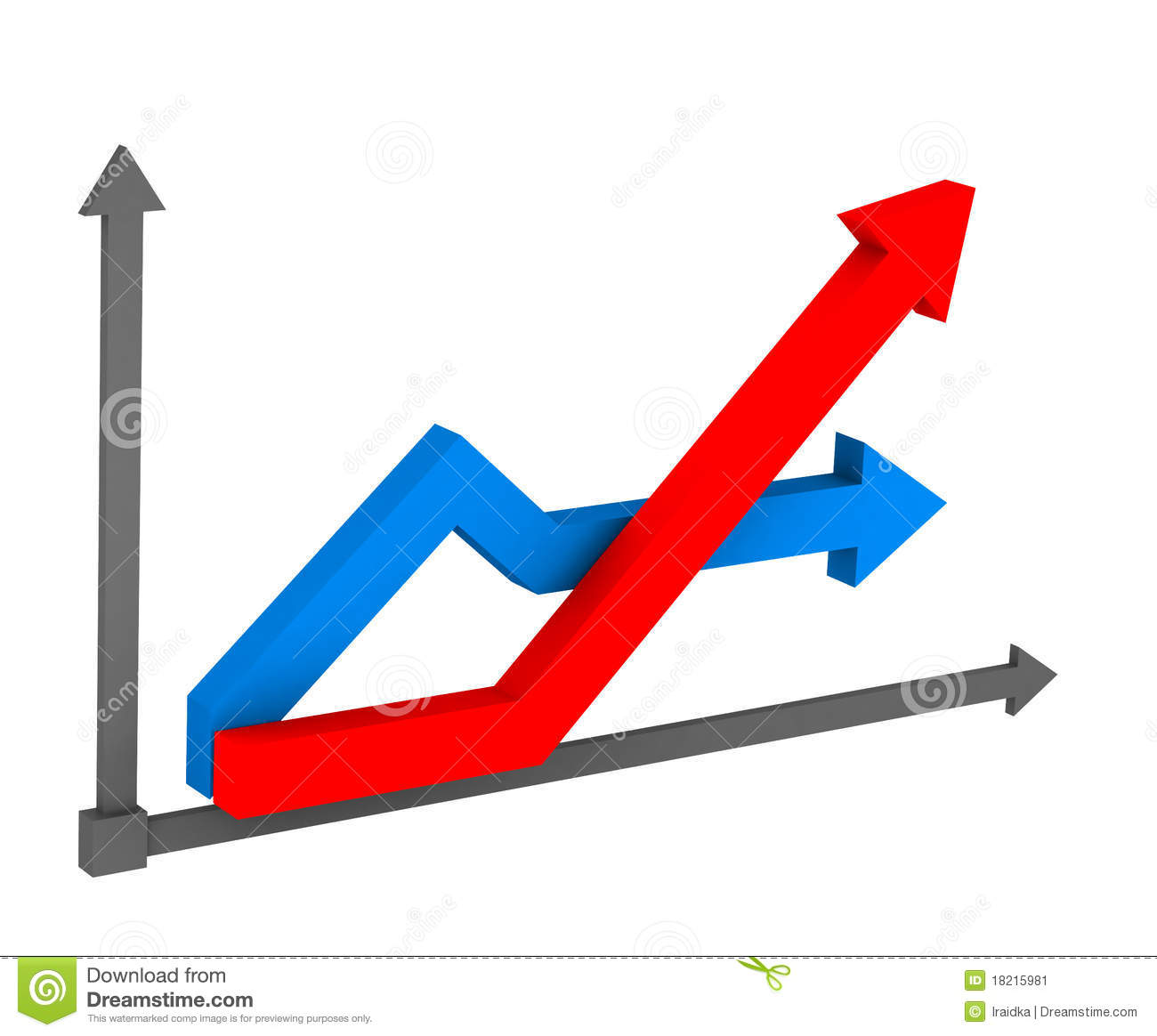3d Arrow On The Chart Stock Image - Image: 18215981