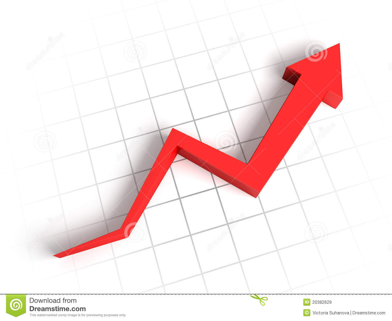 3d arrow graph stock illustration. illustration of advance - 20382629