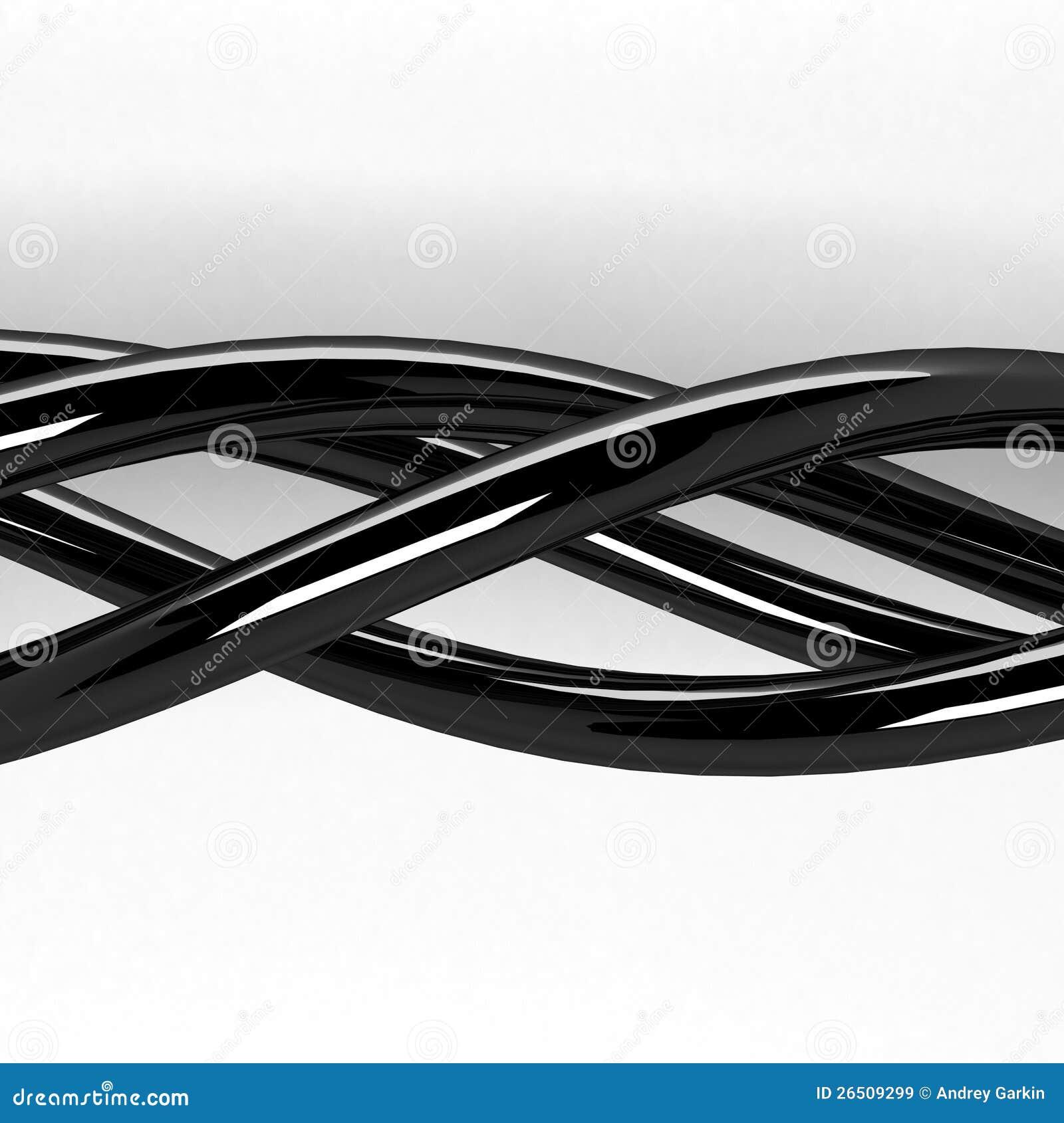 3d as linhas de entrelaçamento chromeplated abstratas