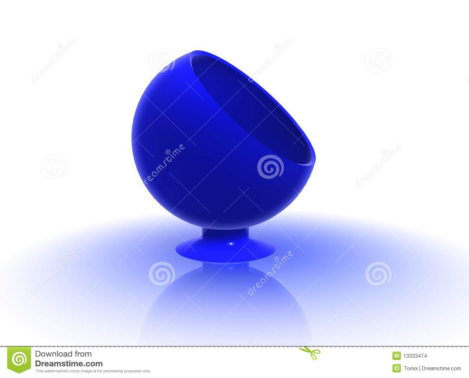 3d błękitny krzesło