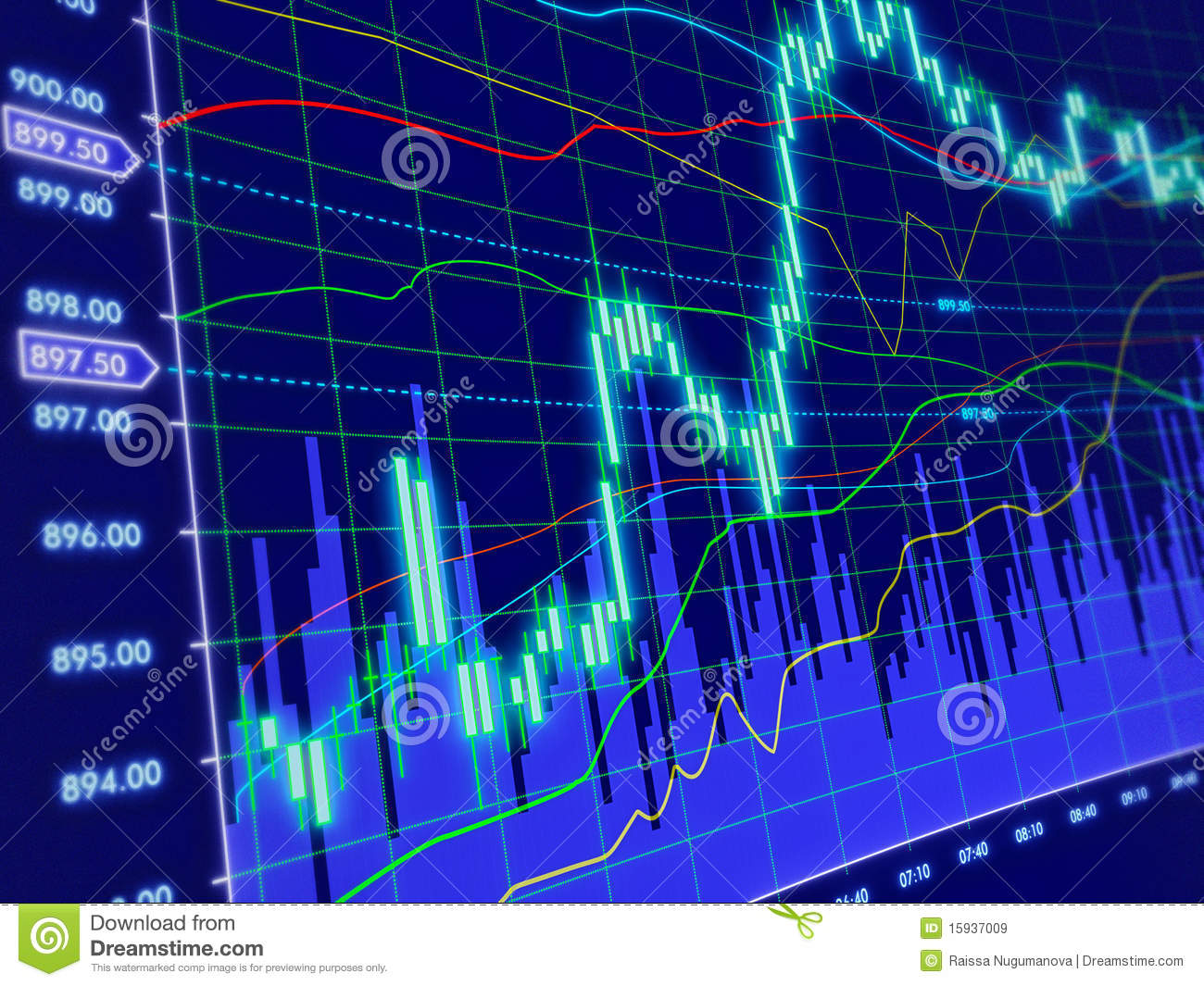 3d Background With Stock Diagram Royalty Free Stock Images