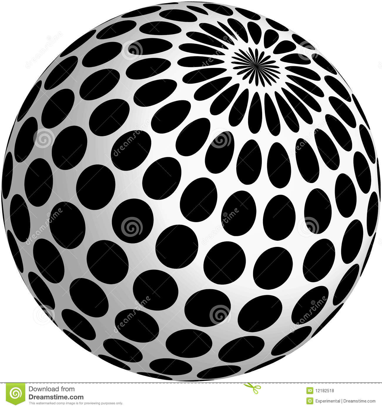 3d ball design with black dots stock illustration for 3d design free