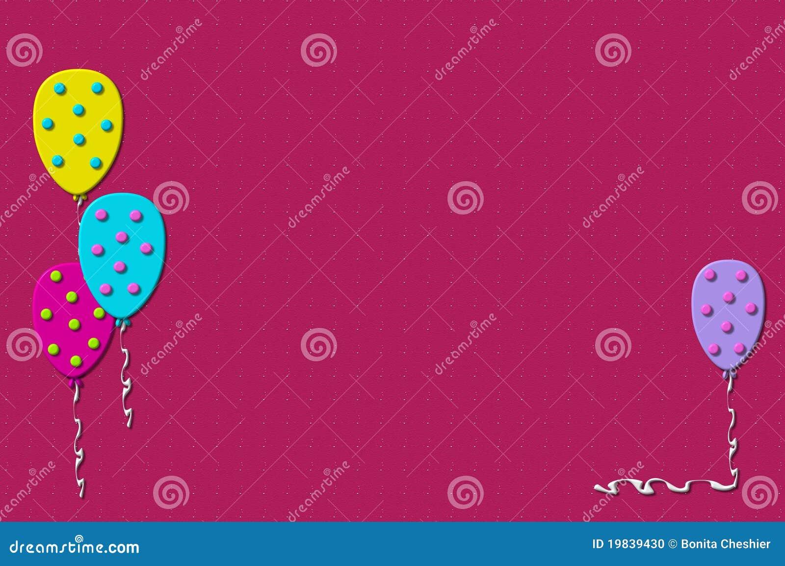 3D Balloons Pink