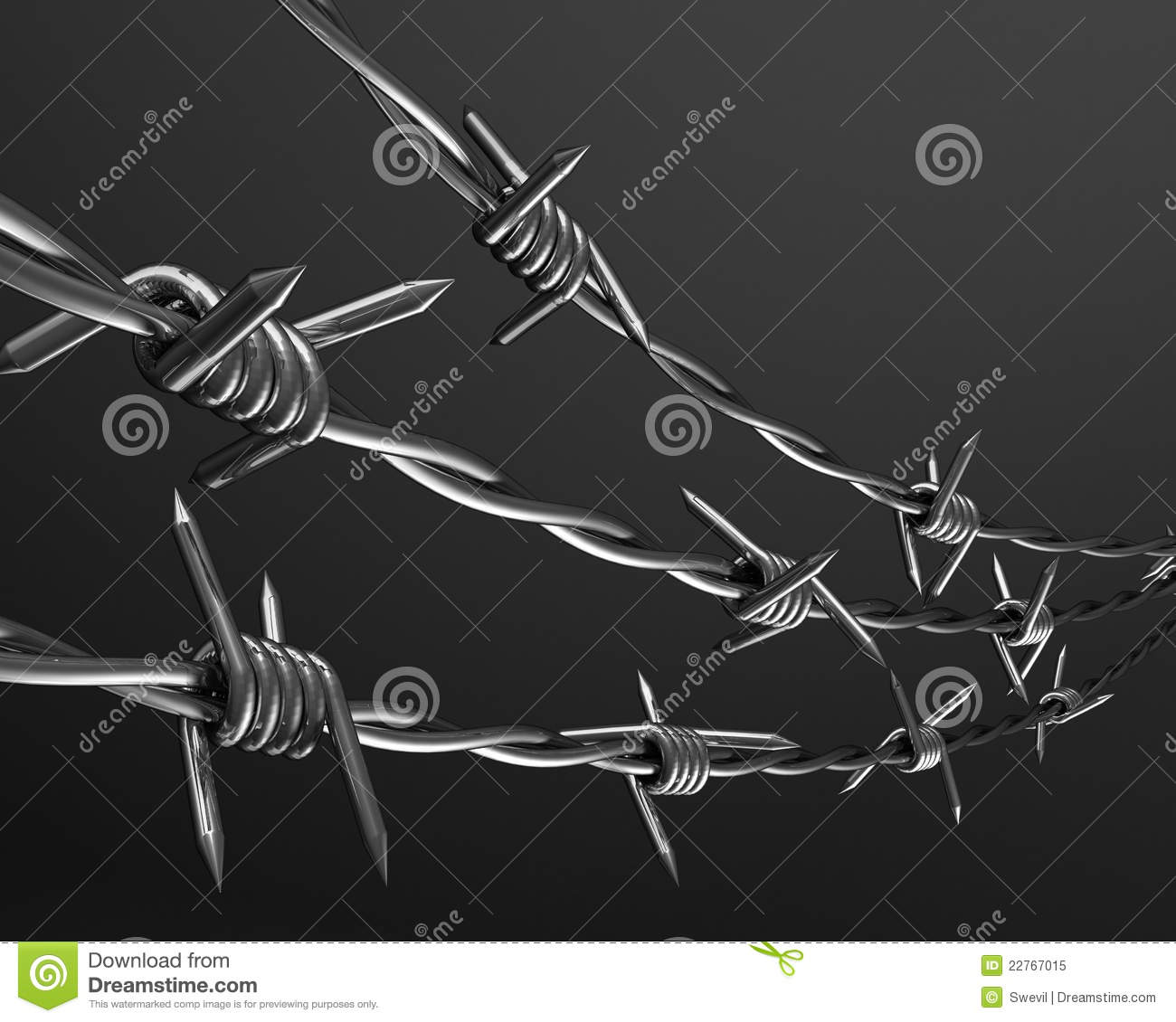 D barbed wire background royalty free stock photo image
