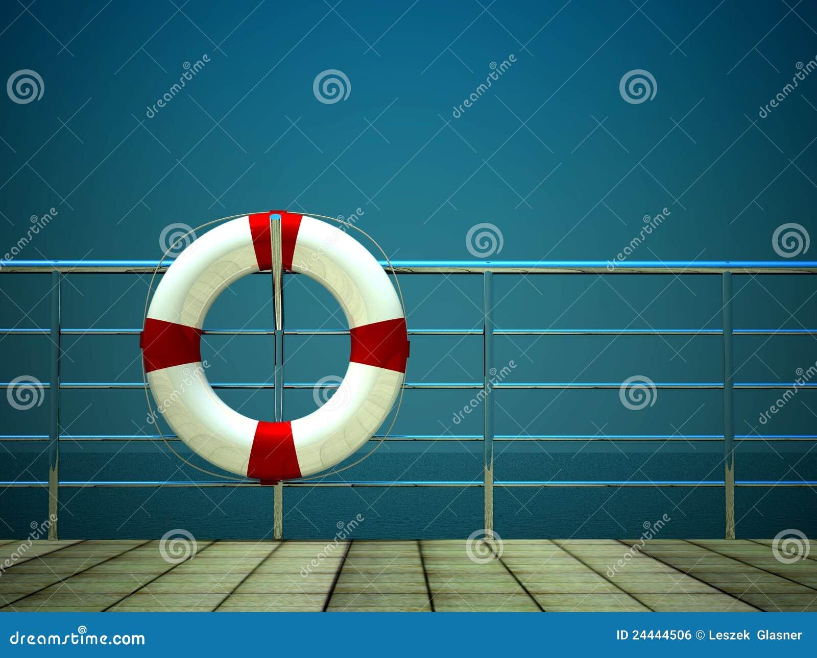 3d barier życia pierścionku bezpieczeństwa morze