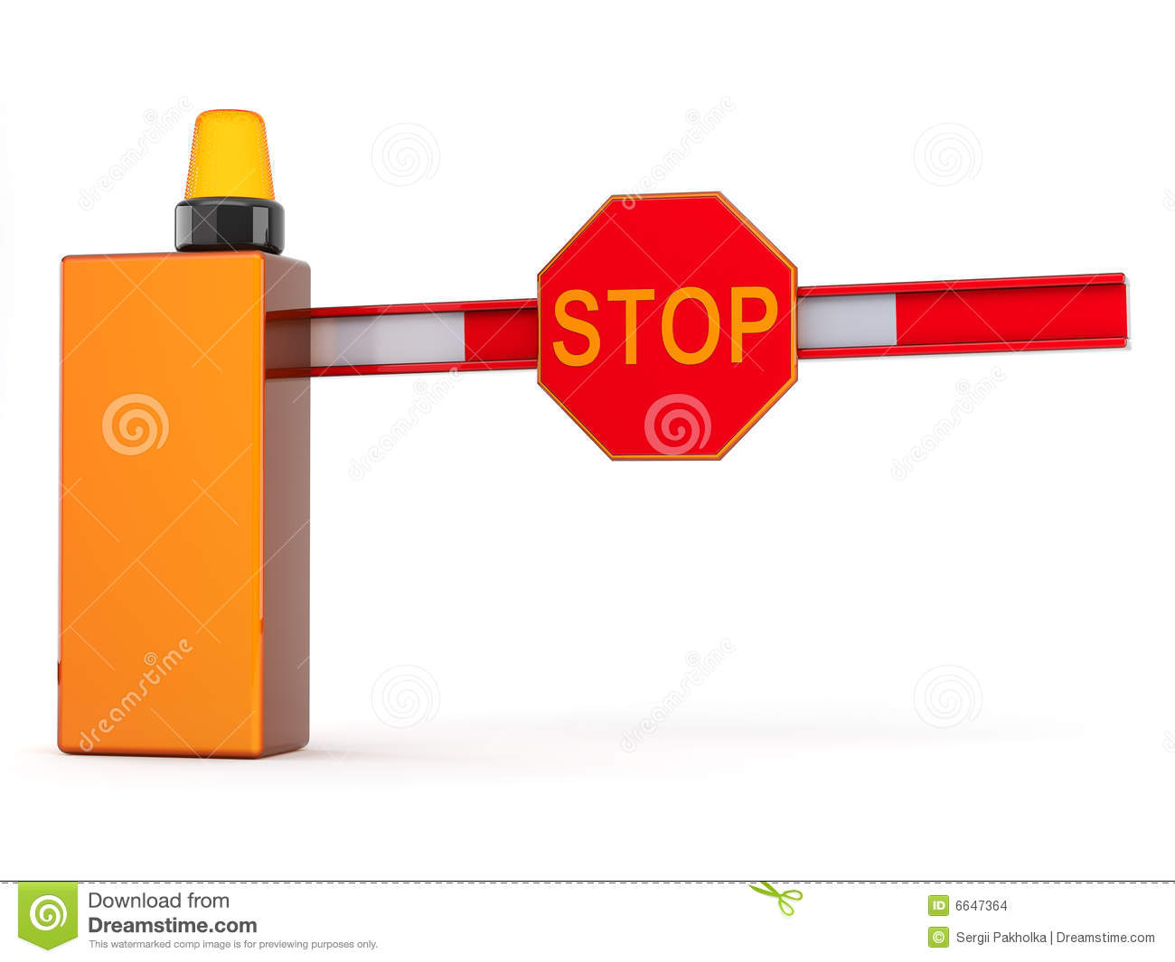 3d Barrier With Sign Stop Stock Images - Image: 6647364
