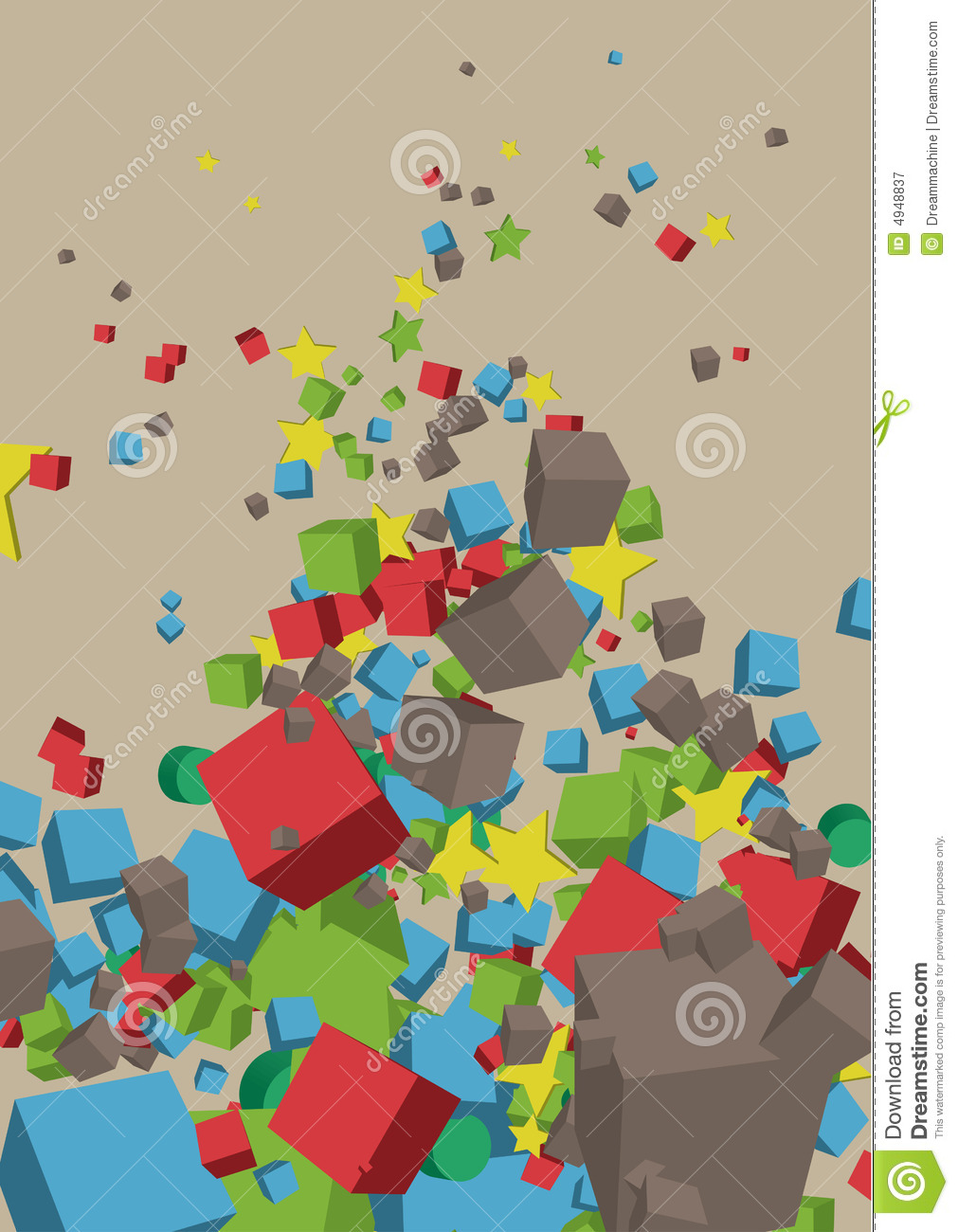 3d Basic Shapes Composition Royalty Free Stock Photography - Image ...