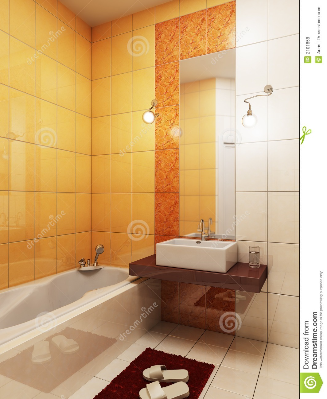 3d Bathroom Rendering Royalty Free Stock Photos Image 2101858
