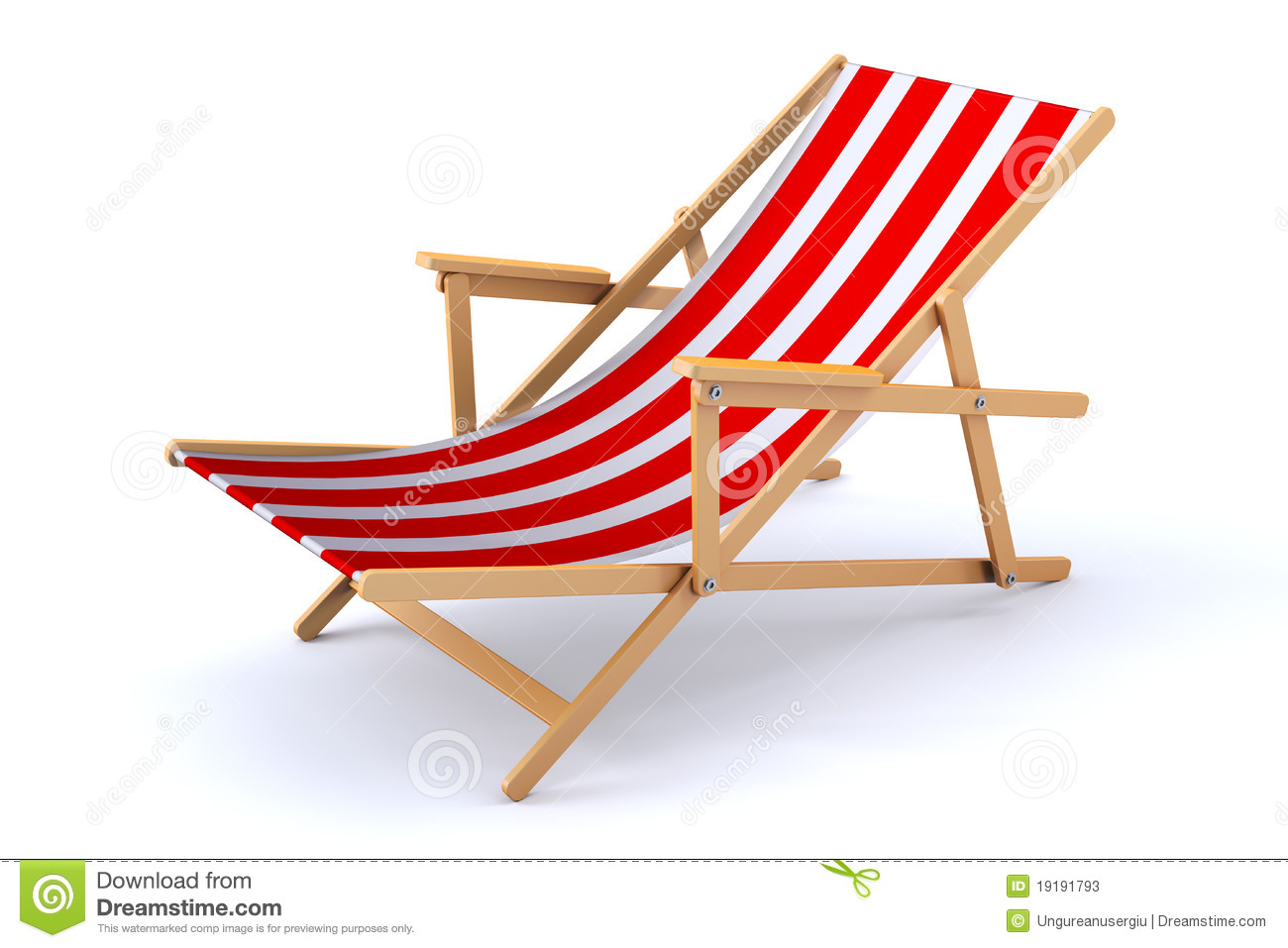 3d Beach Chair Stock Photos Image 19191793