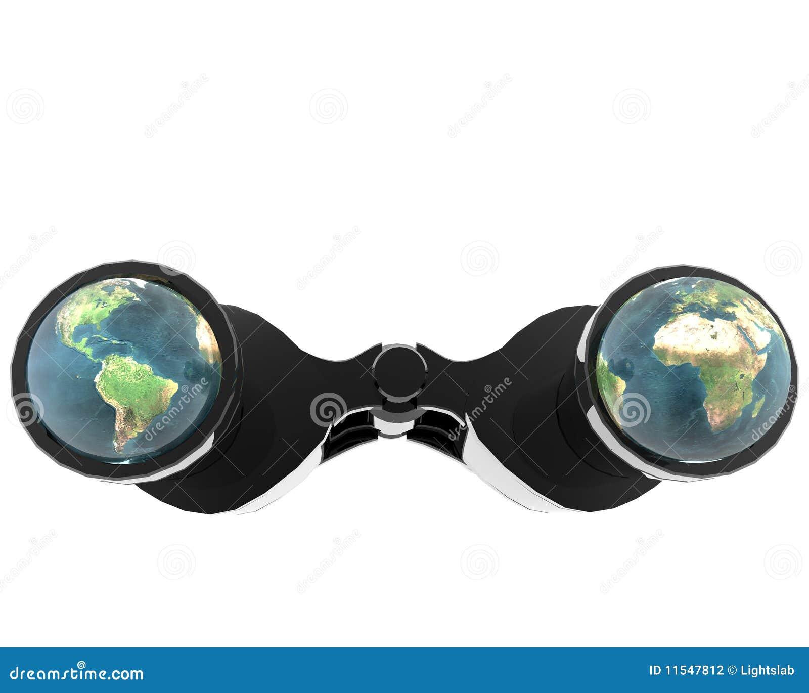 3d binokular mit Erde