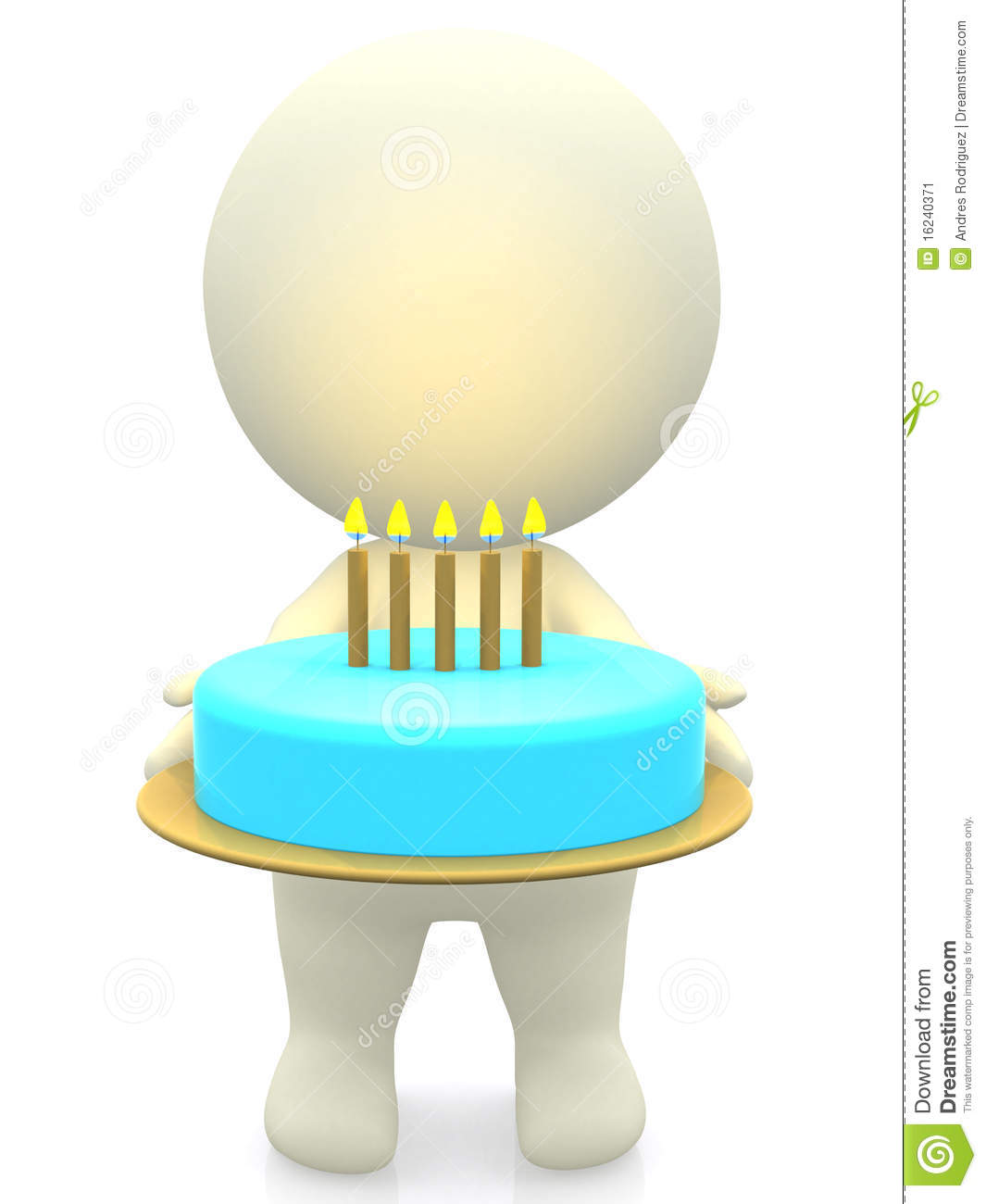 3d Birthday Cake Stock Illustration Illustration Of