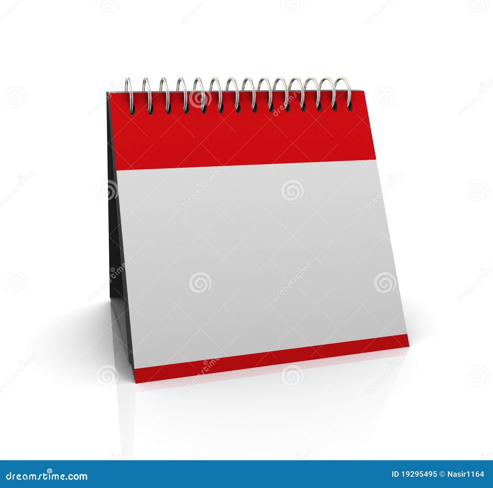 3d blank calender stock illustration  illustration of